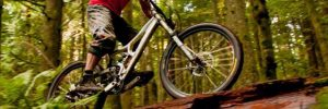Seattle chiropractor Dr. Scott Petett on mountain bike