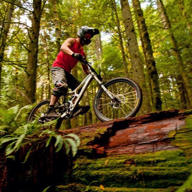 Seattle chiropractor Dr. Scott Petett on mountain bike
